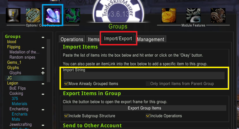 groupsimport