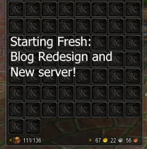 Starting Fresh! Blog redesign and new server!