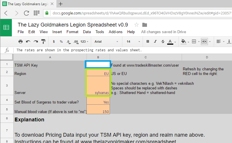 Google Sheets version of my spreadsheet is finished! - The