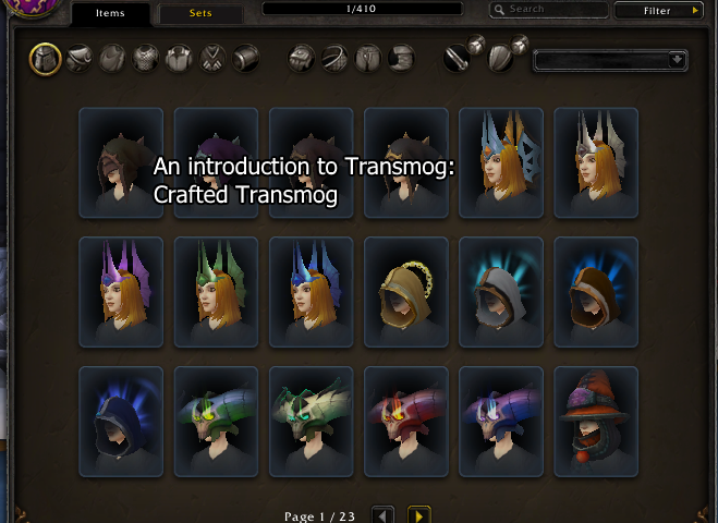 An introduction to transmog: Crafted transmog