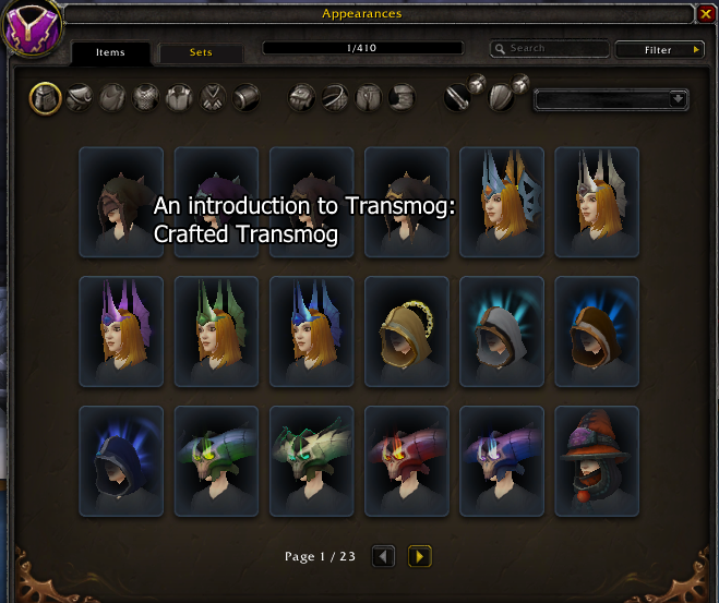 An introduction to transmog: Crafted transmog - The Lazy Goldmaker