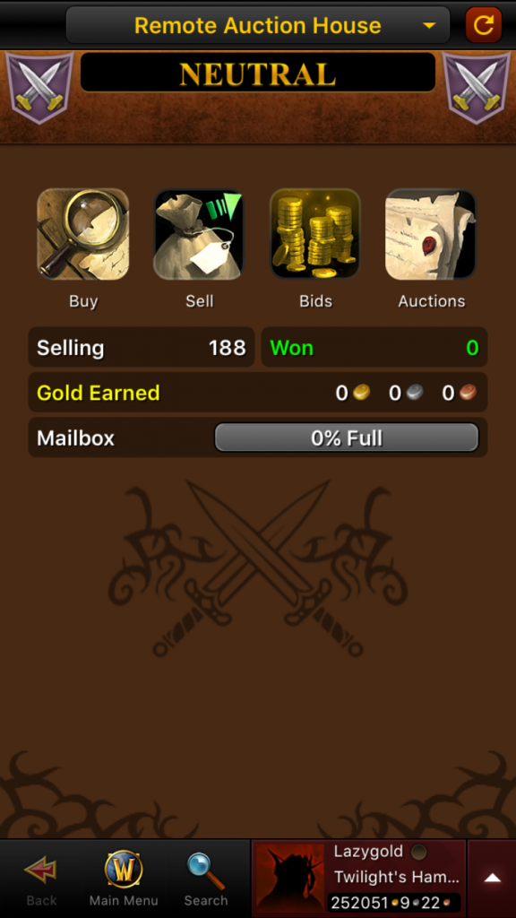 Utilizing the WoW Armoury Mobile App - The Lazy Goldmaker