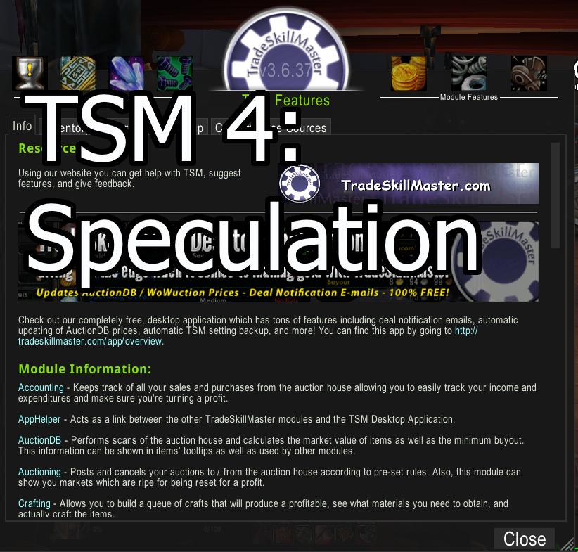 TSM 4 Speculation and a retrospective - The Lazy Goldmaker
