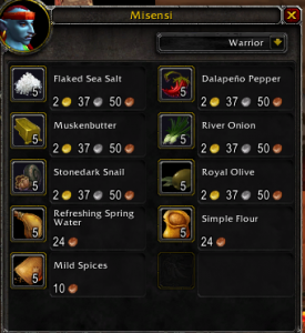 Simple Gold Tips: Reselling Dalaran Vendor Cooking mats