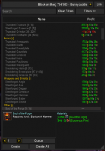 Warlords of Draenor Blacksmithing: Armor, Essences and Weapons