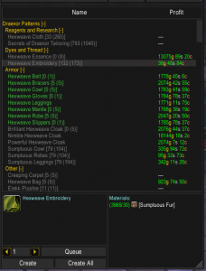 A primer on Warlords of Draenor Tailoring