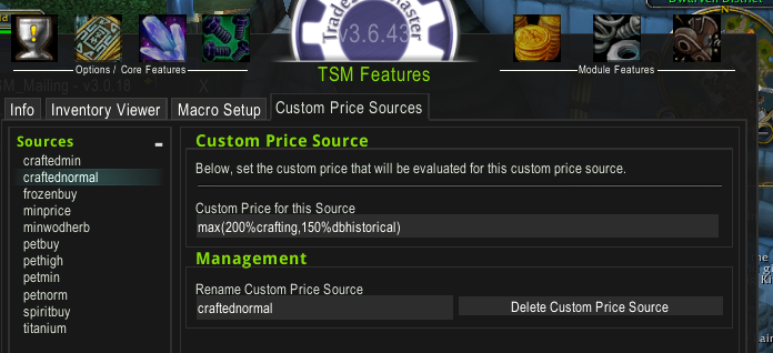 When and how to use custom price sources in Tradeskillmaster