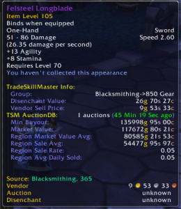 """Secret"" Goldmaking: Rare Transmog Patterns"