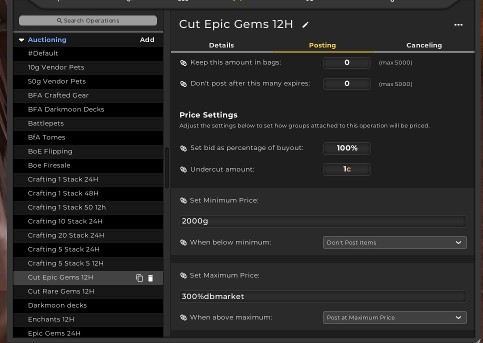 TSM4 Epic gem operation