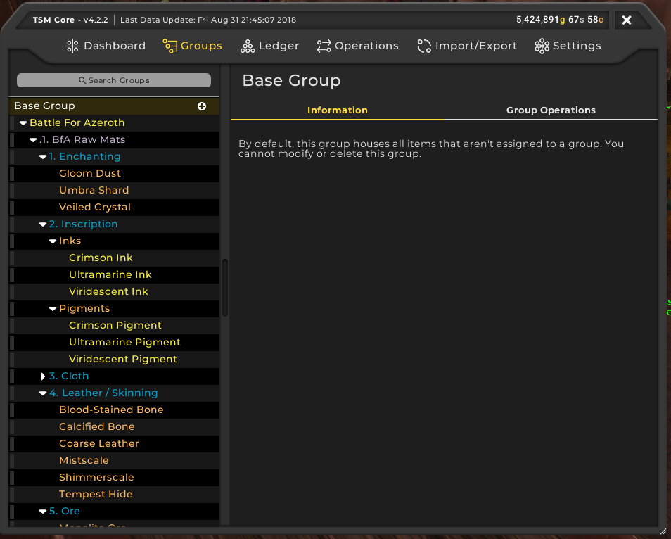 TSM4 Groups UI