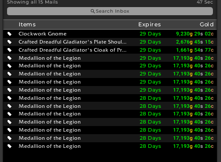 Mailbox showing Meadllion of the Legion Sales