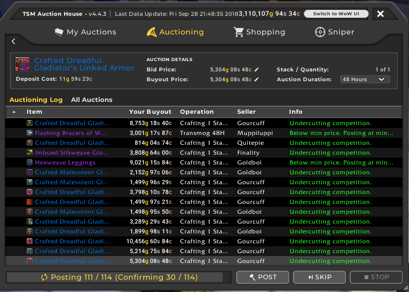 TSM4 Guide part 5: Using auctioning to post your items - The