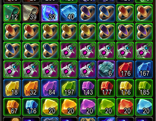My inventory is filled with gems