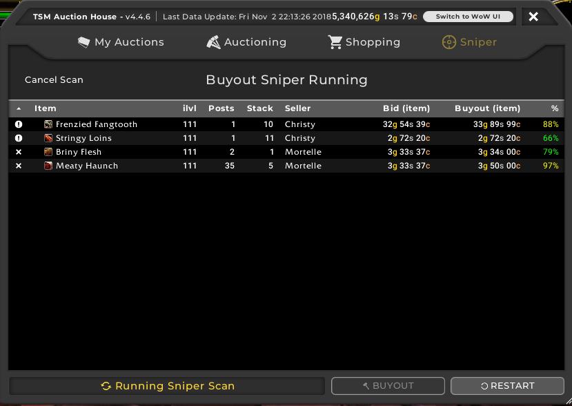 TSM4 Sniper serach results