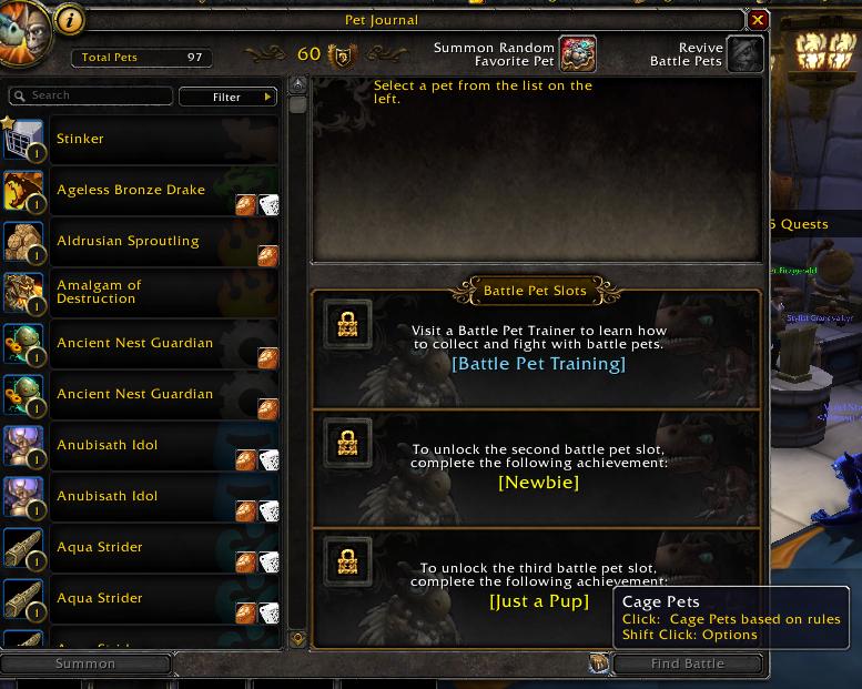 BattlePetCageMatch UI screenshot