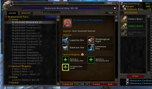 Shadowlands Goldmaking: Valuing your crafter's mark 2 gear