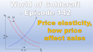 Price elasticity, How prices affect sales – World of Goldcraft 142